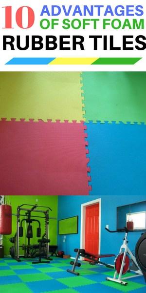 10 Advantages of soft foam rubber gym tiles - interlocking colorful squares