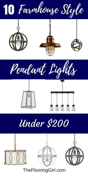 10 farmhouse style pendant lights under $200