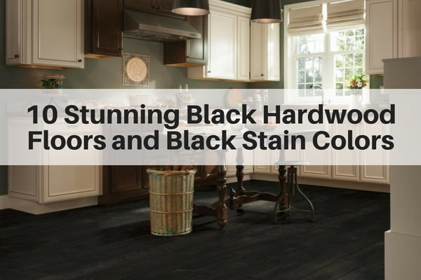 10 stunning black hardwood floors and black stain colors