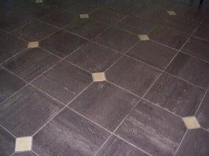 Tile flooring with diamond inserts Westchester NY