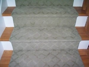Carpet runner for stairs Westchester County tone on tone