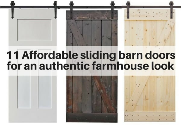 Sliding barn doors for farmhouse style decor  sc 1 st  The Flooring Girl & 11 Affordable sliding barn doors for an authentic farmhouse look ...