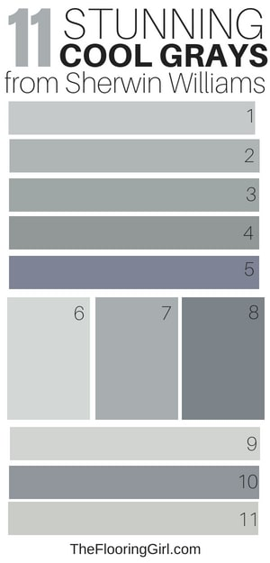 11 Awesome Cool Gray Paint Shades From Sherwin Williams