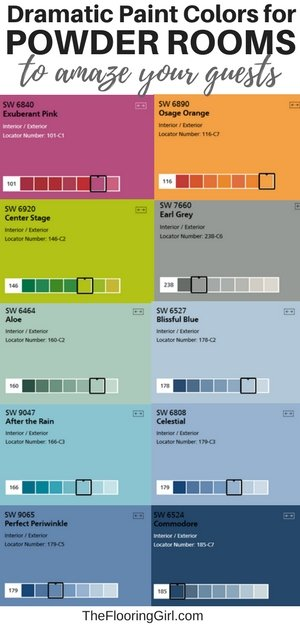 13 Dramatic Paint Colors for Powder Rooms to Amaze Your Guests | The