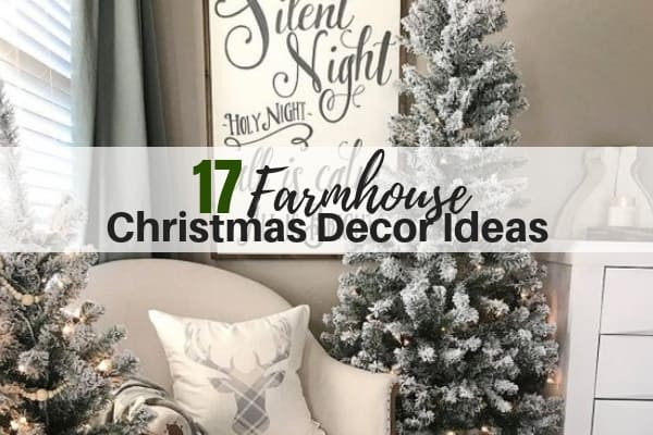 17 farmhouse christmas decor ideas - Farmhouse Christmas Tree Decorations