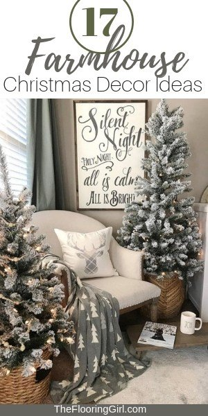 17 farmhouse christmasdecor ideas - Farmhouse Christmas Decorating Ideas