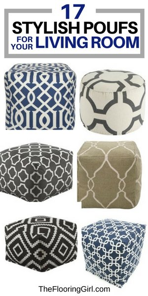 17 stylish poufs for your living room