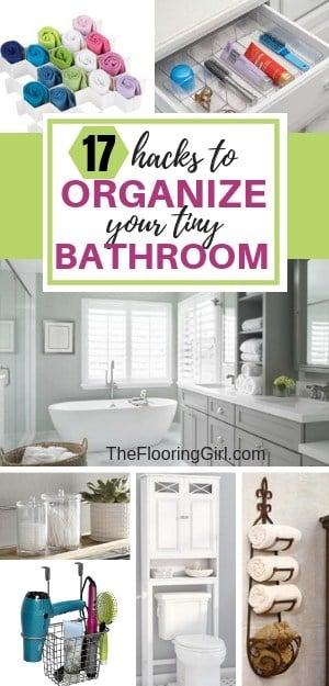 17 hacks to organize your small bathroom