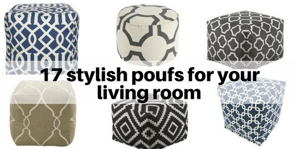 17 stylish poufs for your living room and dining room