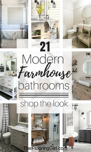 21 Modern Farmhouse Style Bathrooms for a Rustic Shabby Chic Look & 21 Modern Farmhouse Style Bathrooms for a Rustic Shabby Chic Look ...