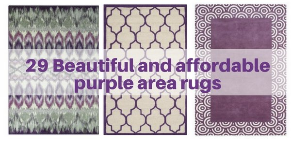 29 affordable and beautiful purple area rugs