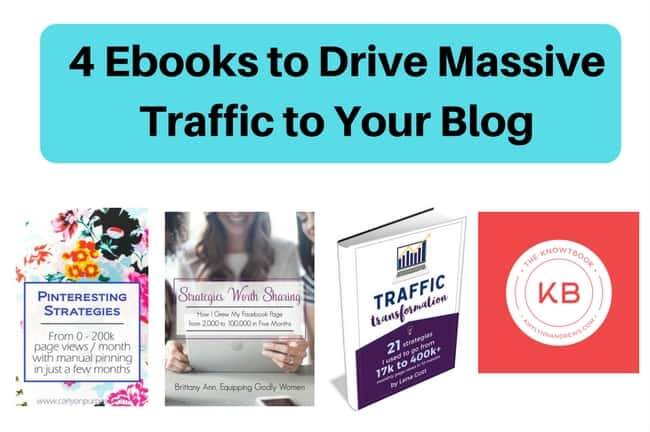 4 ebooks to drive massive traffic to your blog