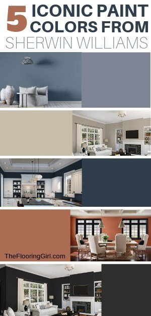 5 Iconic Paint colors from Sherwin Williams