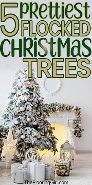 best flocked christmas trees and where to buy them on sale