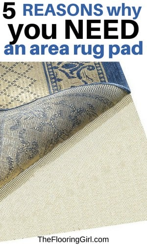 best choice for area rug padding