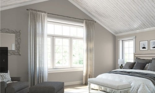 Agreeable Gray paint in bedroom - Sherwin Williams