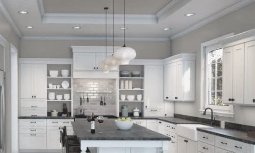 Agreeable Gray paint in kitchen - Sherwin Williams