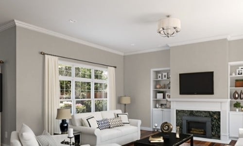 Agreeable Gray Paint in living room - SW7029