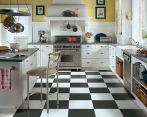 Black and white vinyl flooring westchester NY
