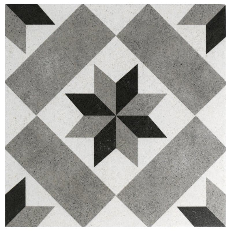 Black, white and gray vintage tiles - Victorian tiles