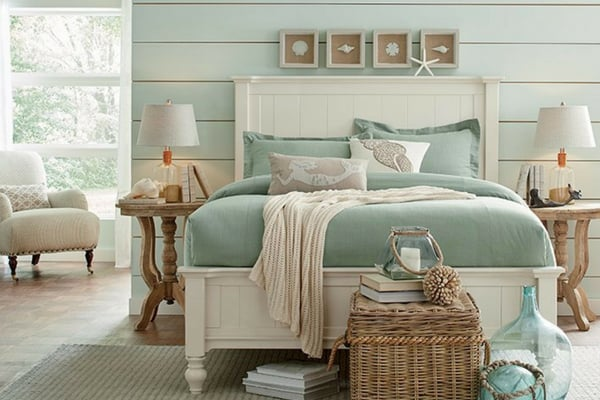 Gorgeous bedrooms with shiplap - aqua
