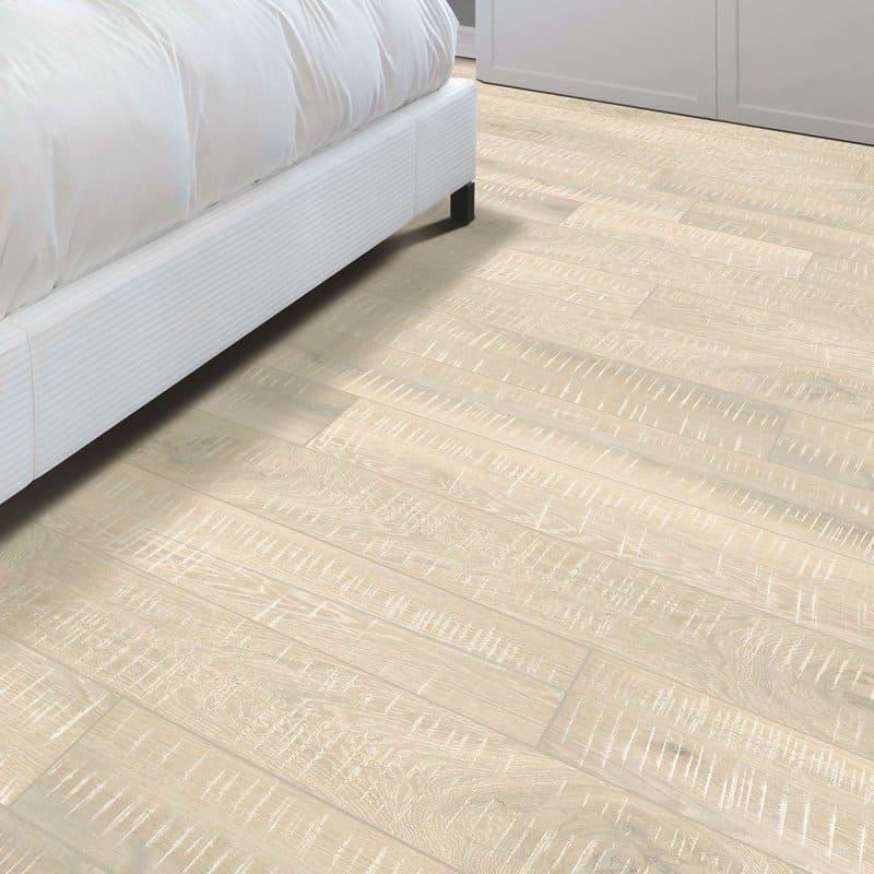 Random Width Whitewashed Hardwood Floors