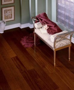 floating hardwood floor