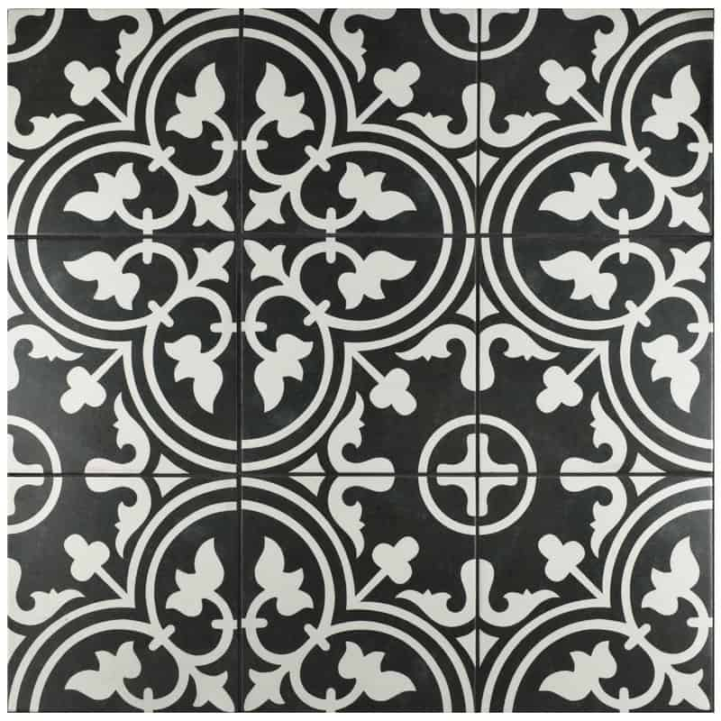 Vintage Black And White Tiles Artea
