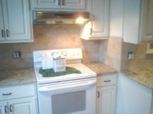 Westchester NY tile backsplash - White Plains natural stone subway tile