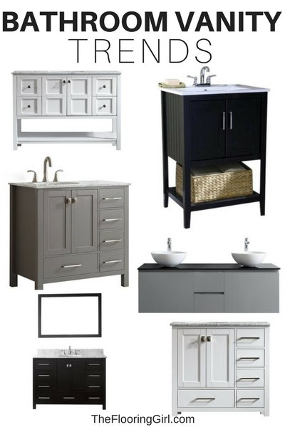 Bathroom vanity trends for 2018 2019 the flooring girl for Bathroom finishes trends
