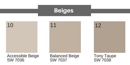 neutral paint colors for walls - beiges