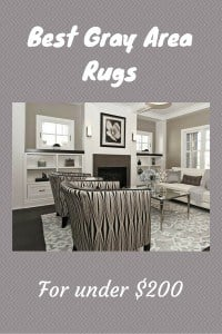 Gray area rugs that are priced below $200