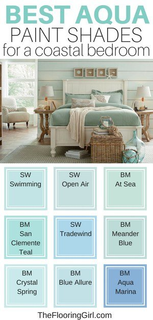 best piant colors for bedrooms - best aquas for a coastal style