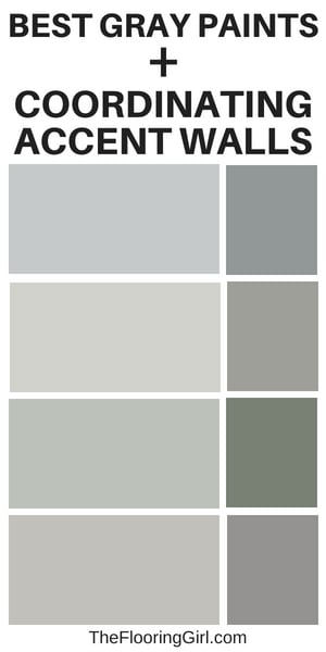 gray paint colors and corresponding darker gray accesnt walls