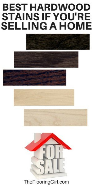hardwood stains for selling a house