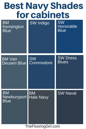 best shades of navy for kitchen cabinets