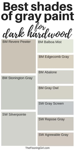 best gray shades of paint for dark hardwood flooring