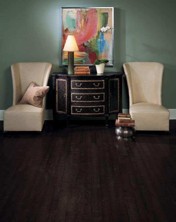 Dark Hardwood Floors Bedroom Westchester County The
