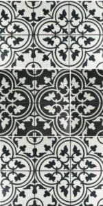 2018 flooring trends - farmhouse style black and white tiles