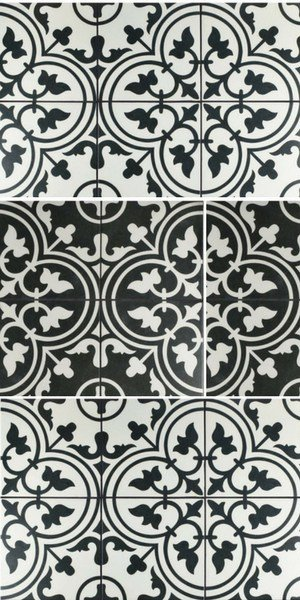 2019 flooring trends - farmhouse style black and white tiles