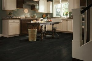 black harwood flooring - prefinished