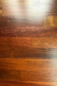 avoid using a sealer when refinishing brazilian cherry hardwood
