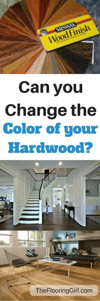 Can you change the color of your hardwood floors?