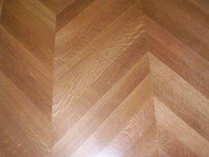 White Oak Chevron rifted and quarter sawn