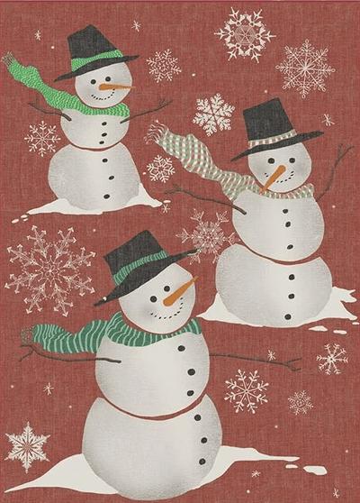 snowman rug for Christmas