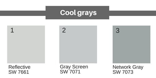 Neutral Paint Colors - Cool grays