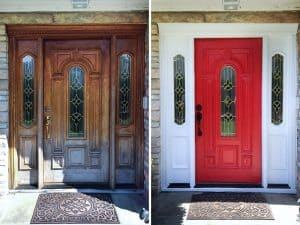 weekend projects - paint front door