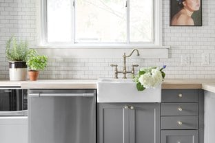 mid gray cabinets - best paint shades of paint of kitchen cabinets