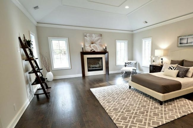 How To Decorate With Gray Walls And Dark Hardwood Flooring Bedroom Decorating