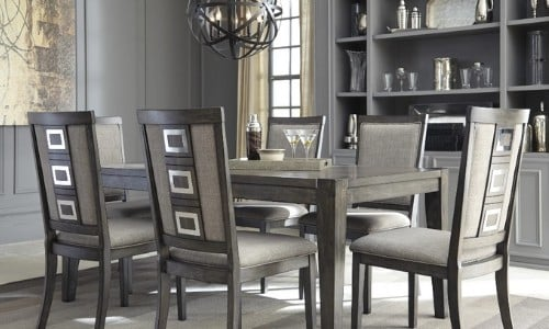 dining room painted in Repose Gray